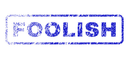 inadequate: Foolish caption unclean seal imprint for watermarks. Blue Vector. Illustration