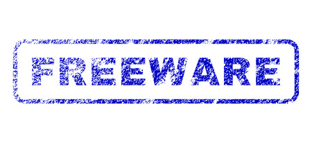 freeware: Freeware text grunge seal imprint for watermarks. Blue Vector.