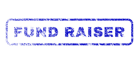 capitalist: Fund Raiser tag grunged seal imprint for watermarks. Blue Vector.