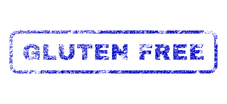 nil: Gluten Free tag unclean seal stamp for watermarks. Blue Vector.