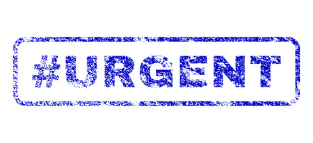 Hashtag Urgent tag dirty seal stamp for watermarks. Blue Vector.
