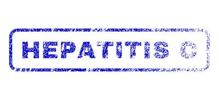 pandemic: Hepatitis C tag dirty seal imprint for watermarks. Blue Vector.