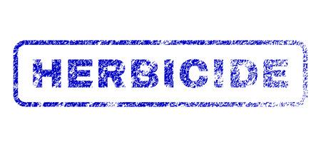 herbicide: Herbicide caption rubber seal stamp for watermarks. Blue Vector.
