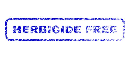 herbicide: Herbicide Free message unclean seal imprint for watermarks. Blue Vector.
