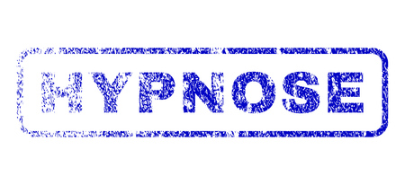 hypnose: Hypnose text rubber seal imprint for watermarks. Blue Vector.