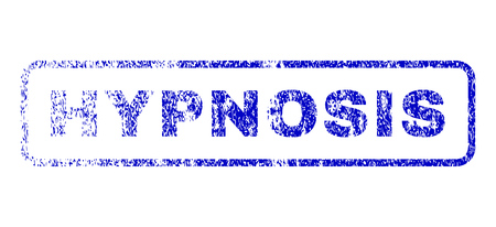 hypnose: Hypnosis message dirty seal stamp for watermarks. Blue Vector. Illustration