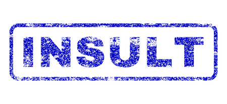 disordered: Insult tag grunge seal imprint for watermarks. Blue Vector.