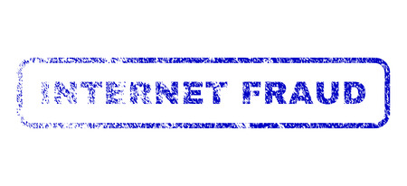 Internet Fraud tag scratched seal imprint for watermarks. Blue Vector. Illustration