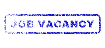 unoccupied: Job Vacancy text rubber seal stamp for watermarks. Blue Vector. Illustration