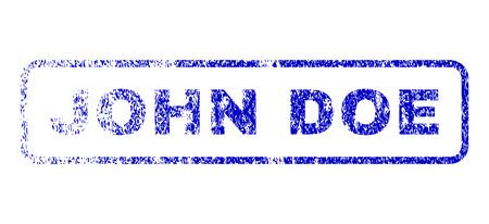 celebrities: John Doe tag dirty seal imprint for watermarks. Blue Vector. Illustration