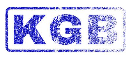 inspector: KGB message rubber seal stamp for watermarks. Blue Vector. Illustration