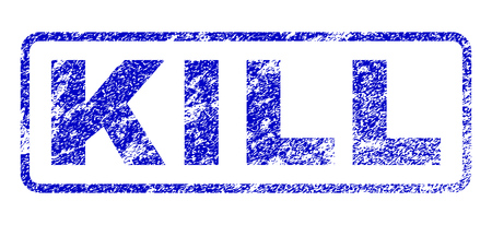 Kill tag unclean seal imprint for watermarks. Blue Vector.