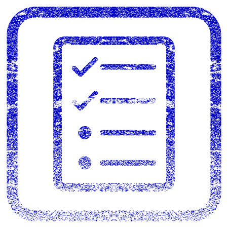 old items: Checklist Page textured icon for overlay watermark stamps.