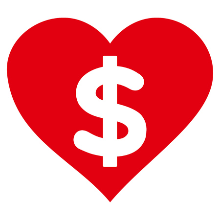 prostituta: Icono plano de amor pagado. Raster rojo símbolo. Pictograma está aislado en un fondo blanco.