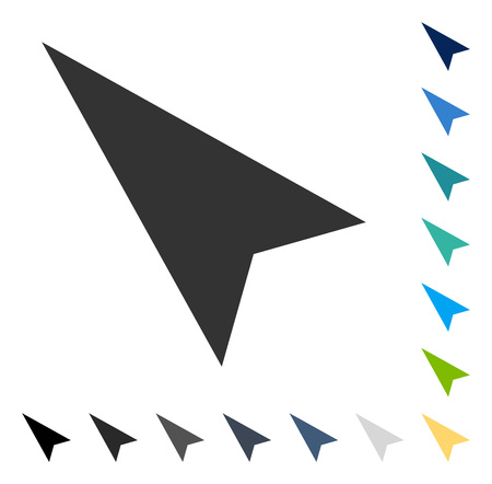 Arrowhead Left-Up icon. Vector illustration style is flat iconic symbol in some color versions. Illusztráció