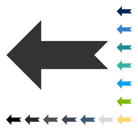 aim: Arrow Left icon. Vector illustration style is flat iconic symbol in some color versions. Illustration