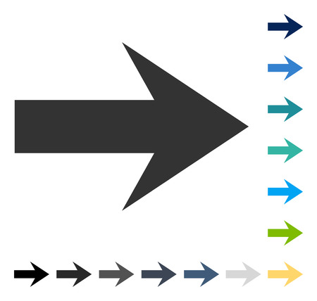 Arrow Right icon. Vector illustration style is flat iconic symbol in some color versions.