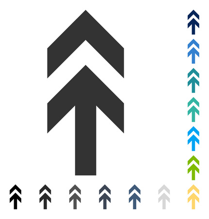 Arrow Up icon. Vector illustration style is flat iconic symbol in some color versions.