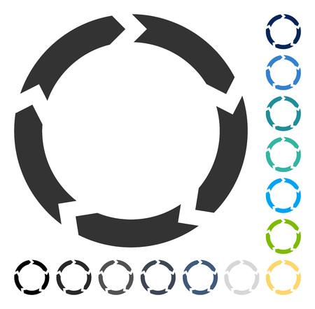 Circulation icon. Vector illustration style is flat iconic symbol in some color versions. Illusztráció