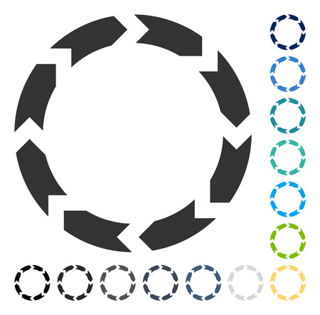 Circulation icon. Vector illustration style is flat iconic symbol in some color versions. Illustration