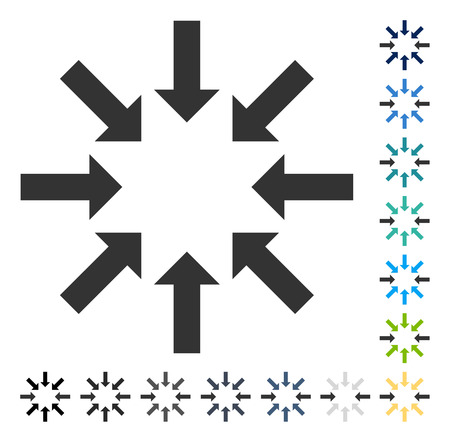 shrink: Collapse Arrows icon. Vector illustration style is flat iconic symbol in some color versions. Illustration