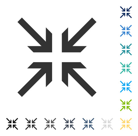 Collide Arrows icon. Vector illustration style is flat iconic symbol in some color versions.