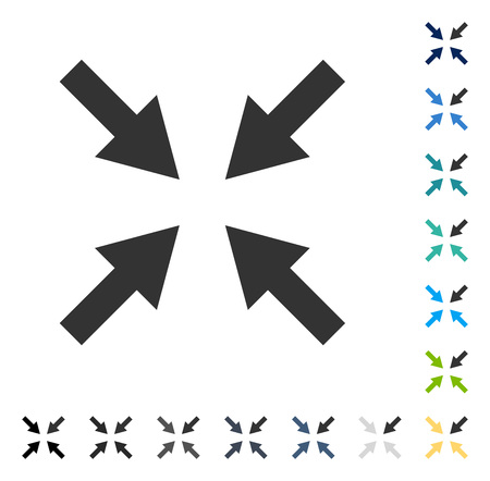 collide: Compress Arrows icon. Vector illustration style is flat iconic symbol in some color versions.
