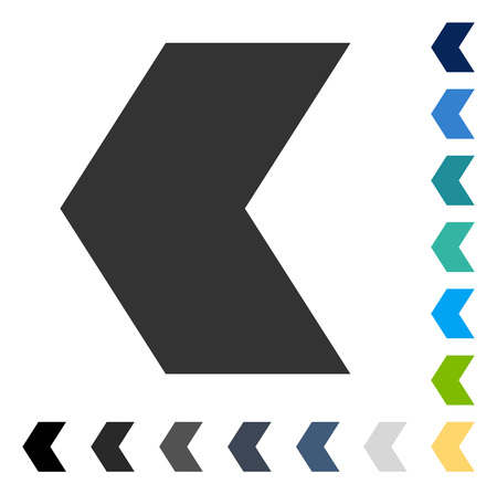 Direction Left icon. Vector illustration style is flat iconic symbol in some color versions. Illustration