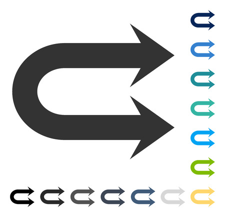 Double Right Arrow icon. Vector illustration style is flat iconic symbol in some color versions.