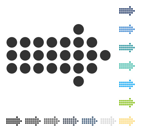Dotted Arrow Right icon. Vector illustration style is flat iconic symbol in some color versions.