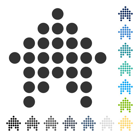 Dotted Arrow Up icon. Vector illustration style is flat iconic symbol in some color versions.