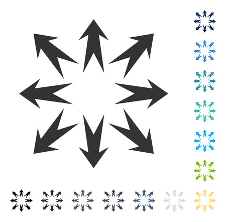 Expand Arrows icon. Vector illustration style is flat iconic symbol in some color versions.