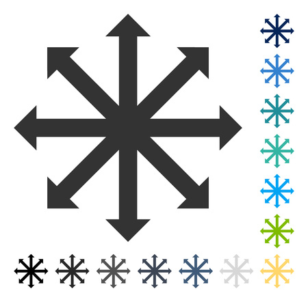 upside: Expand Arrows icon. Vector illustration style is flat iconic symbol in some color versions.