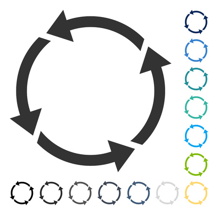 Recycle icon. Vector illustration style is flat iconic symbol in some color versions. Illustration