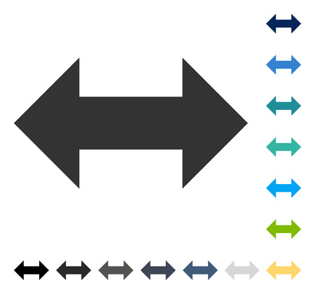 Horizontal Exchange Arrows icon. Vector illustration style is flat iconic symbol in some color versions.
