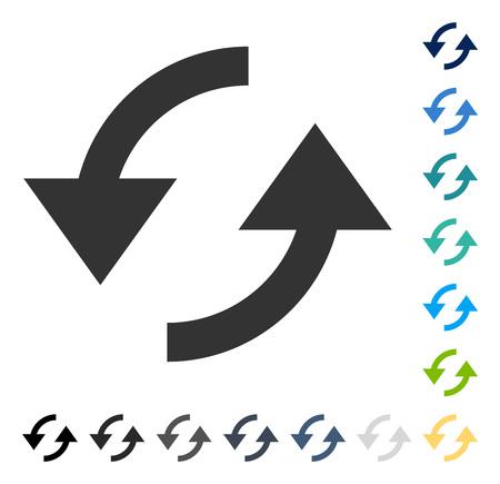 アイコンを更新します。ベクトル図のスタイルは、いくつかの色のバージョンでフラットに象徴的なシンボルです。  イラスト・ベクター素材