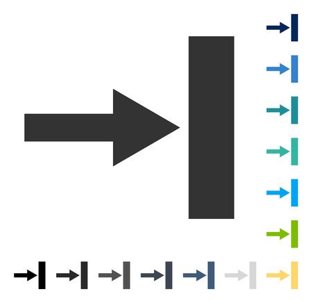 Pfeil verschieben . Vektorillustrationsart ist flaches ikonenhaftes Symbol in einigen Farbversionen