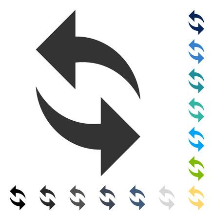 Actualizar ícono. El estilo de la ilustración del vector es símbolo icónico plano en algunas versiones del color. Ilustración de vector
