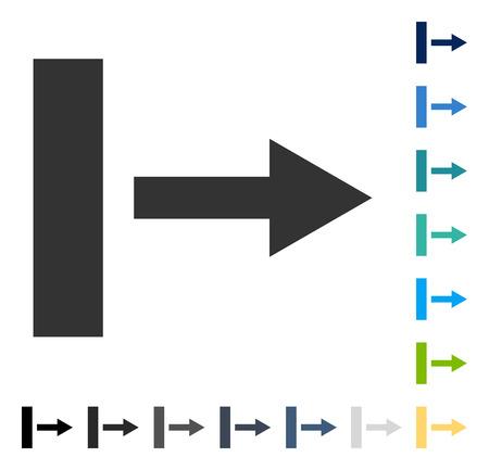 Ziehen Sie das rechte Symbol . Vektorillustrationsart ist flaches ikonenhaftes Symbol in einigen Farbversionen