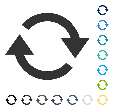 Refresh icon. Vector illustration style is flat iconic symbol in some color versions.
