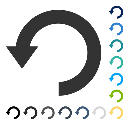 Rotate Down icon. Vector illustration style is flat iconic symbol in some color versions.