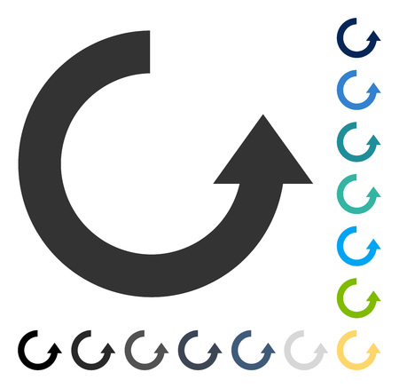 Rotate Up icon. Vector illustration style is flat iconic symbol in some color versions.