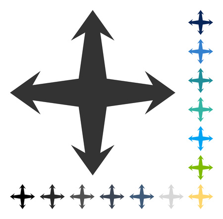 Expand icon. Vector illustration style is flat iconic symbol in some color versions.