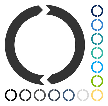 Rotation icon. Vector illustration style is flat iconic symbol in some color versions.