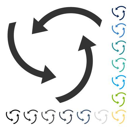 Icône de flèches de tourbillon. Style d'illustration vectorielle est le symbole emblématique plat dans certaines versions de couleur.