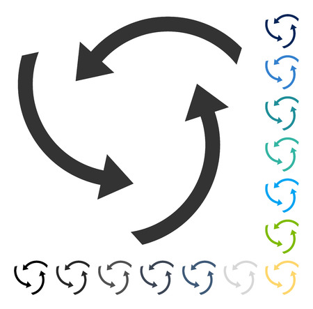 Swirl Arrows icon. Vector illustration style is flat iconic symbol in some color versions.
