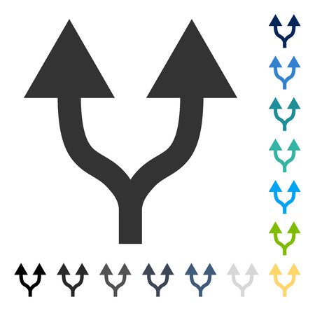 Split Arrows Up icon. Vector illustration style is flat iconic symbol in some color versions.