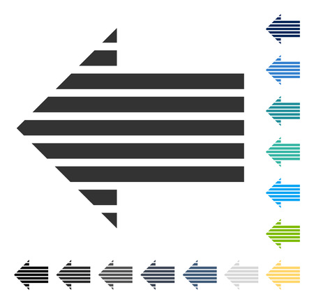 Stripe Arrow Left icon. Vector illustration style is flat iconic symbol in some color versions.