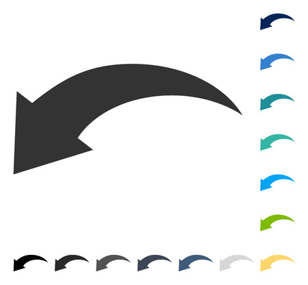Undo icon. Vector illustration style is flat iconic symbol in some color versions. Stock Vector - 82955173