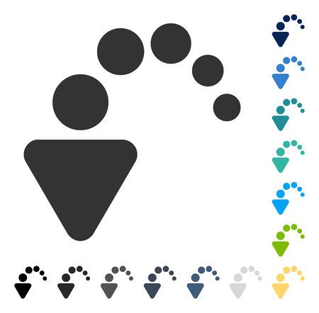 Undo icon. Vector illustration style is flat iconic symbol in some color versions.